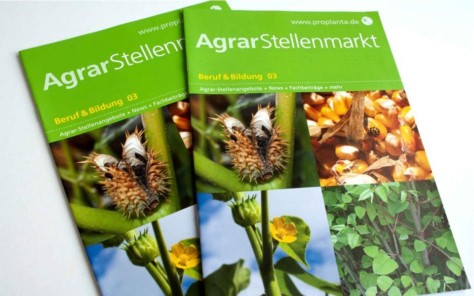 Agrar Stellenmarkt Zeitschriftendesign