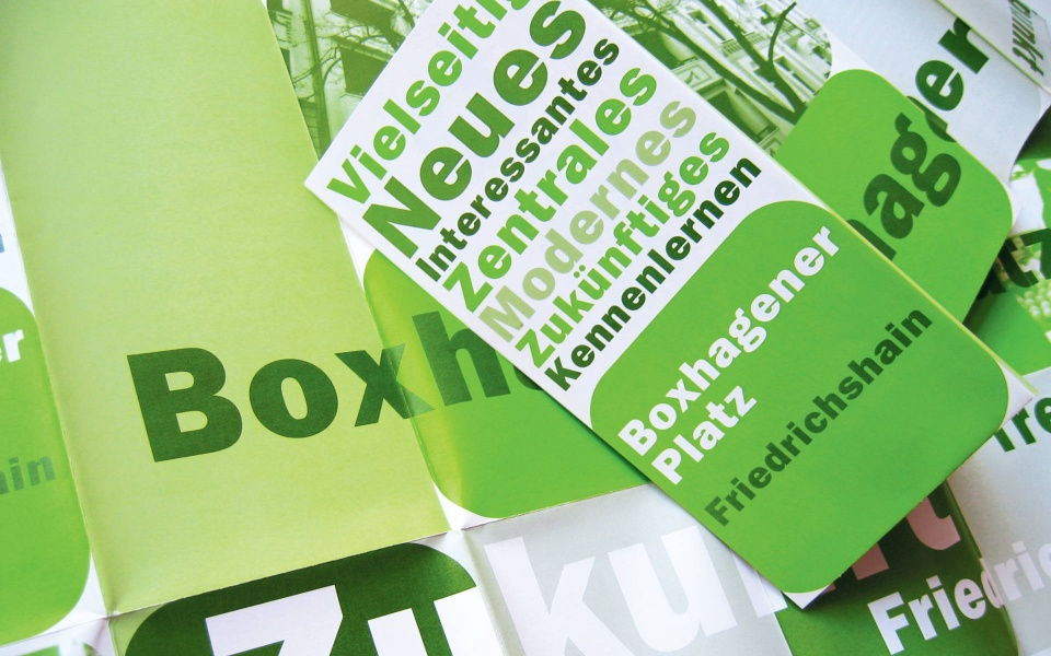 Boxhagenerplatz Quartiersmanagement Plakat Grafik Design