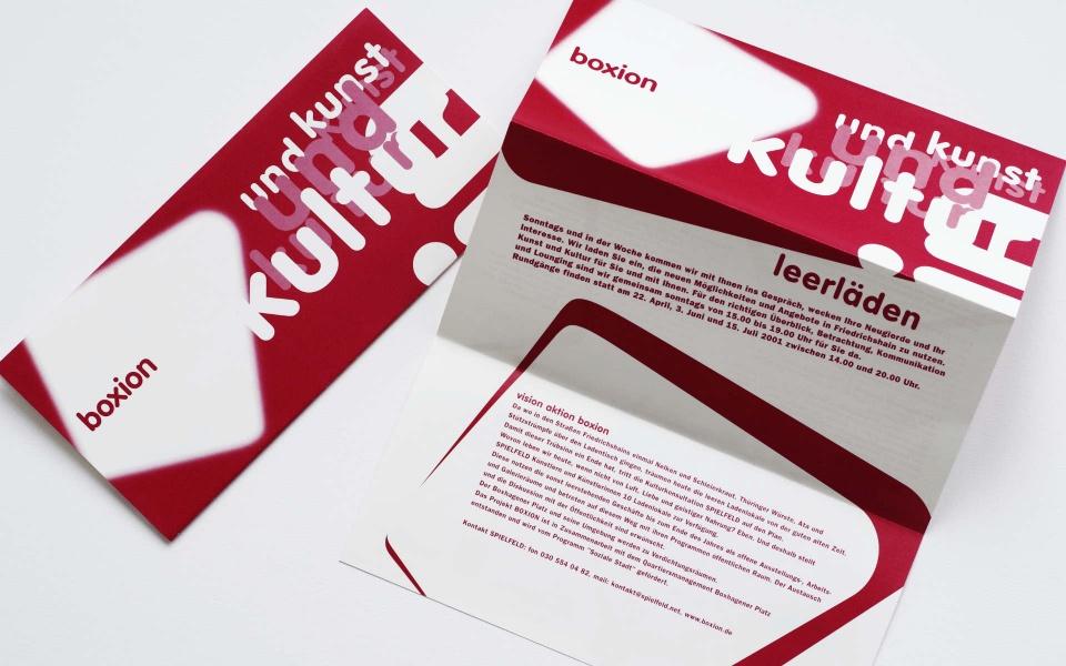 Boxion Logo Informationsplakat Broschuere