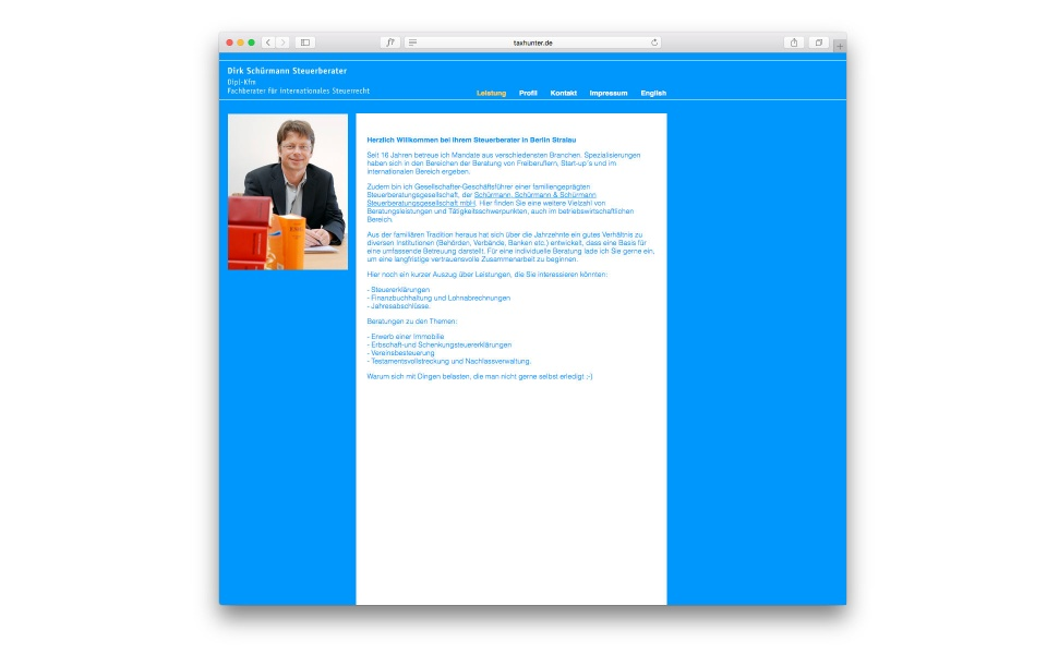 Dirk Schuermann Website CMS Sytem Berlin
