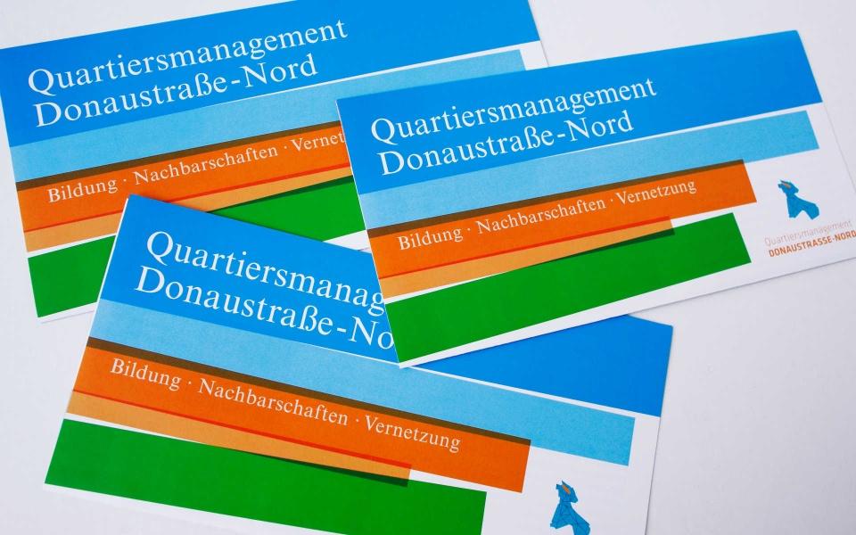 Donaustrasse Quartiersmanagement Neukoelln Faltblatt Broschuere