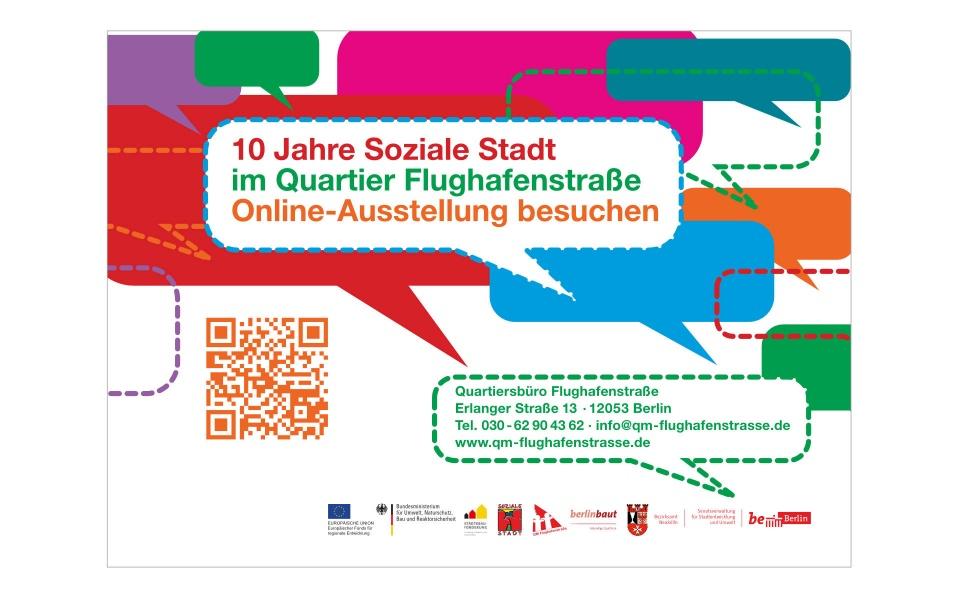 Flughafenstrasse Quartiersbuero Plakate Grafik Design Postkarten Plakate Aufkleber