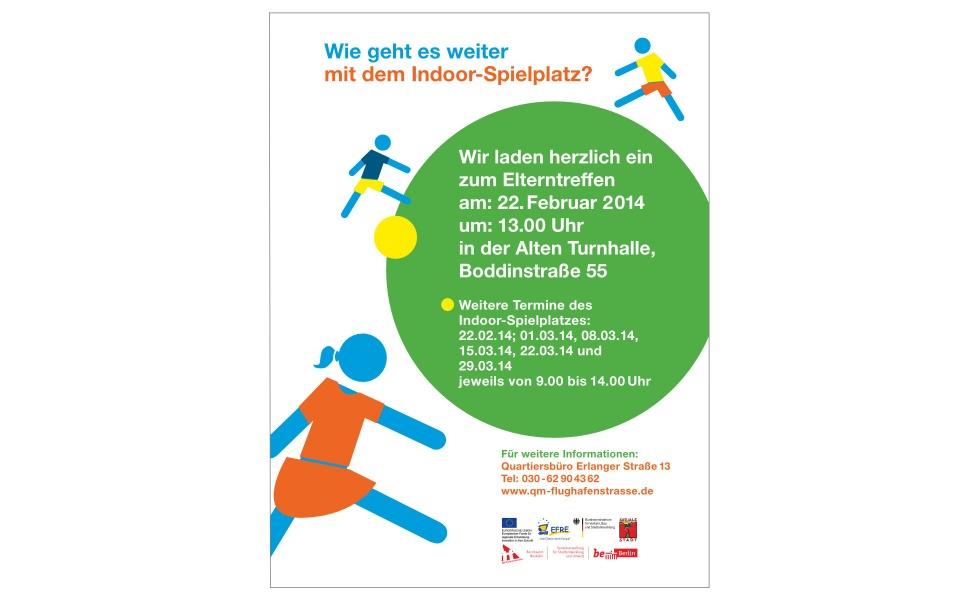 Flughafenstrasse Quartiersbuero Plakate Informationsplakate Berlin