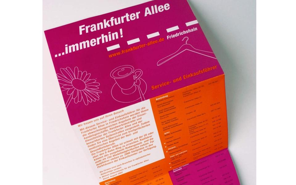 Frankfurter Allee Einkaufsfuehrer Faltblatt Faltplakat