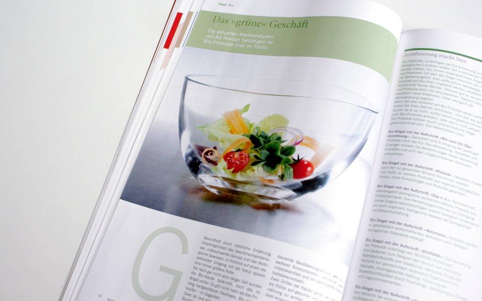 Gatronomie Relaunch Design Fachzeitschrift Grafik