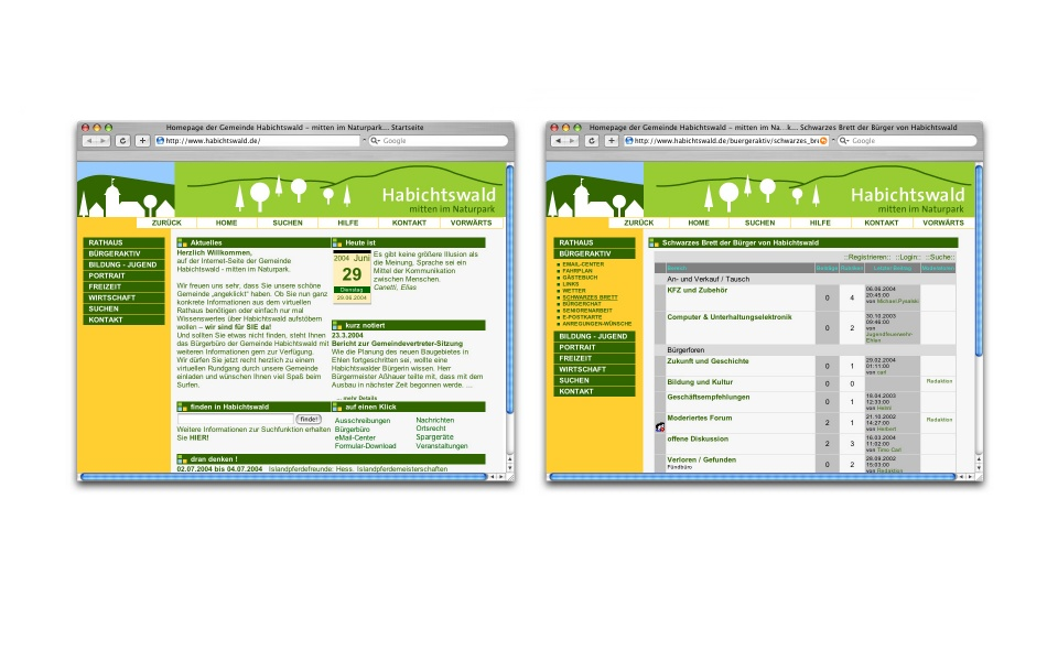 Habichtswald Webdesign CMS System