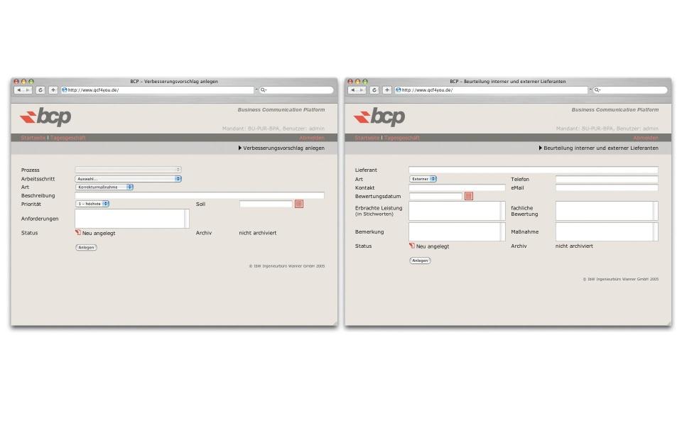 IBW BCP Webdesign Webauftritt Logoentwicklung Erscheinungsbild