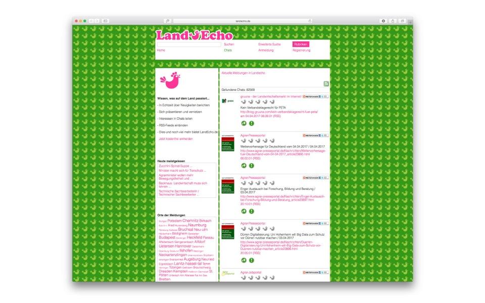 Landecho Webdesign Wesite gestaltung Logoentwicklung