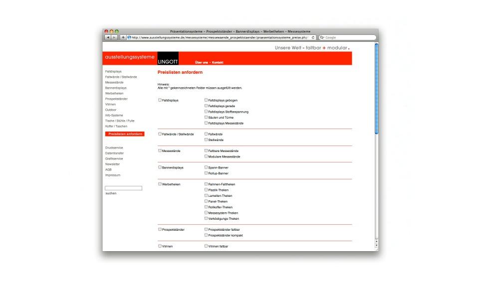 Lingott Ausstellungssystem CMS System Webdesign
