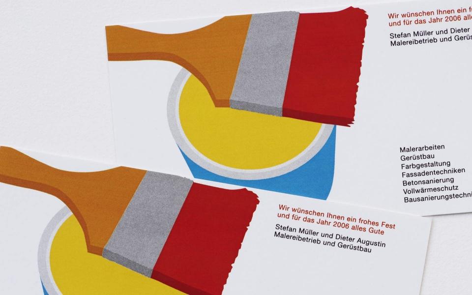Malereibetrieb Postkartengestaltung Icon Entwicklung