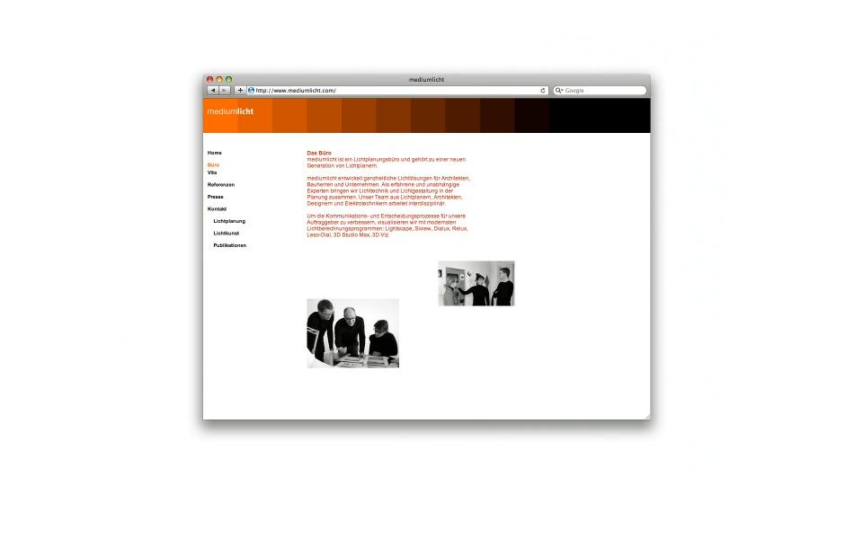 Mediumlich Lichtplaner Webgestaltung