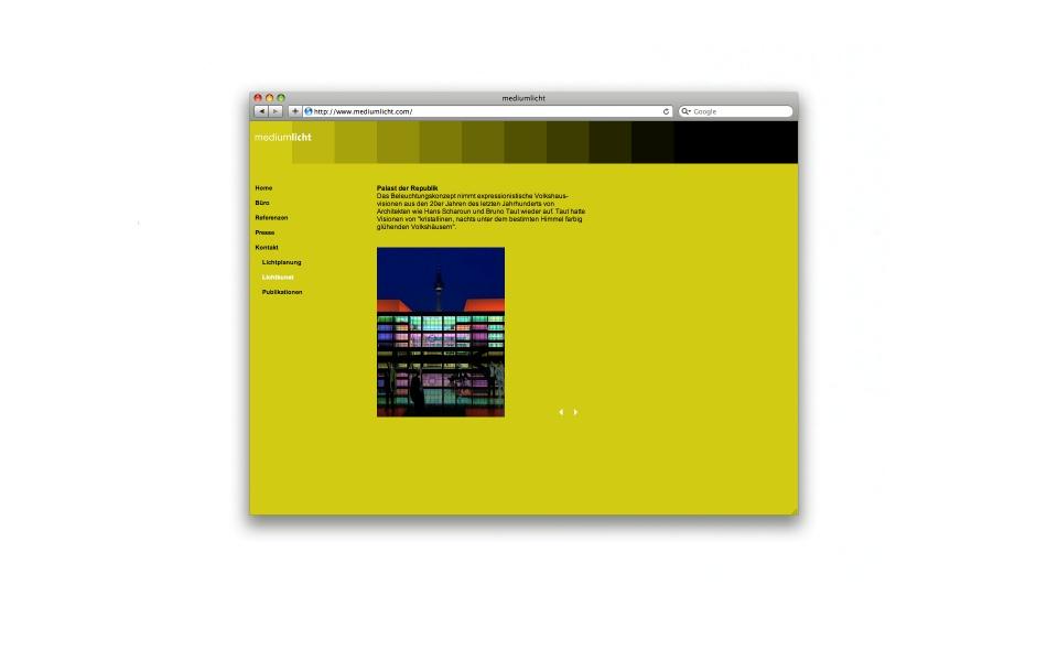 Mediumlicht Lichtplaner Webdesign Grafik Design Logoentwicklung