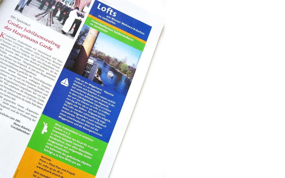 Plueck Plueck Anzeigen Gestaltung Immobilienvermarktung