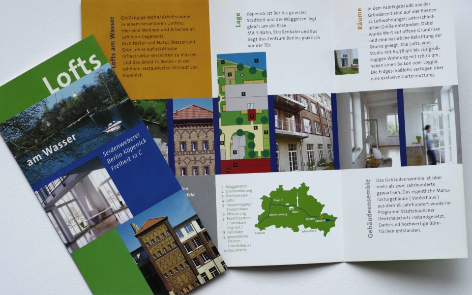 Plueck Plueck Immobilien Vermarktung Faltblatt Broschuere