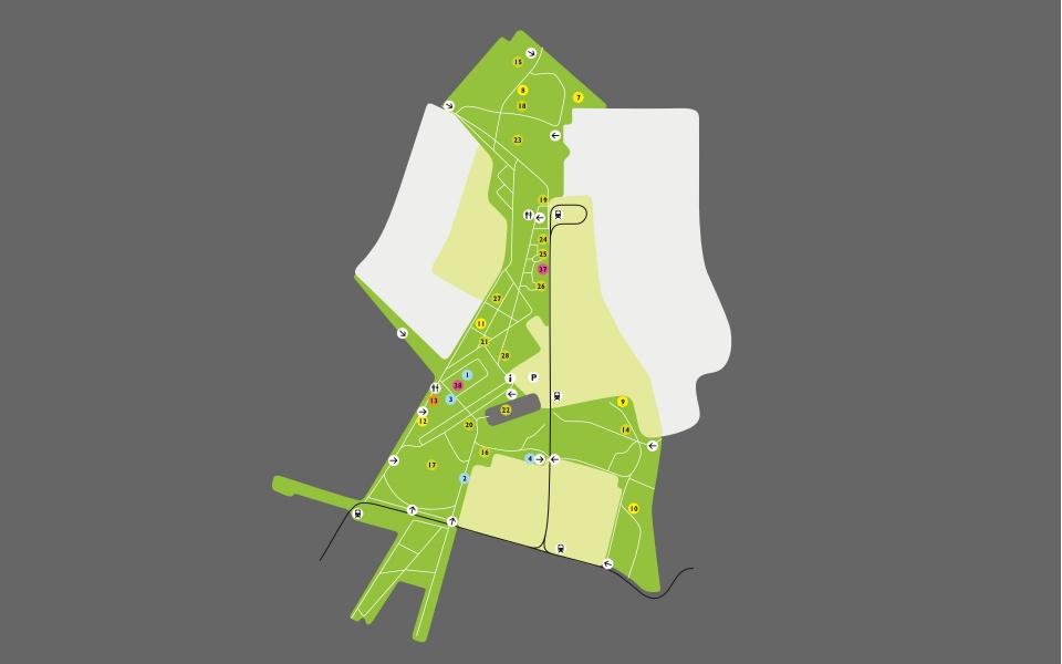Potsdam Volkspark Plan Uebersichtsplan