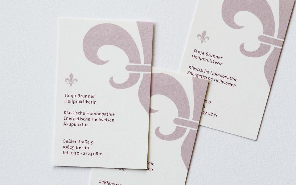 Praxis Homoeopathie Logoentwicklung Visitenkarten