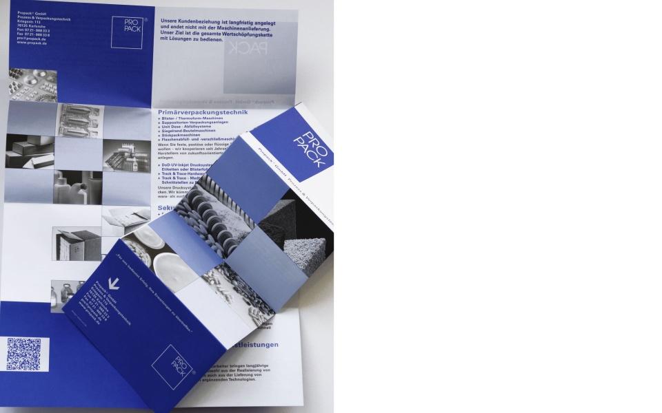 Propack Faltblatt Imagebroschuere Corporate Design