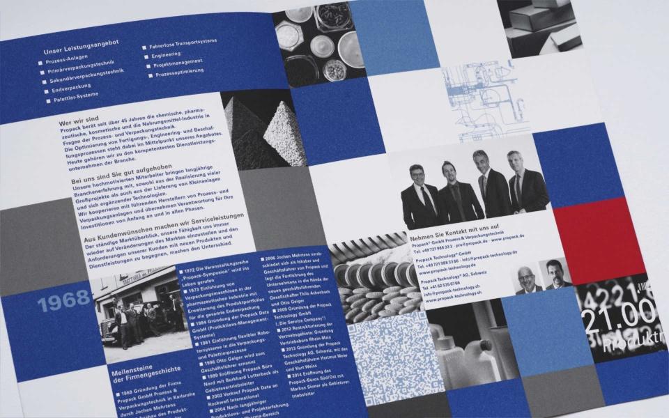 Propack Image Broschuere Corporate Design Erscheinungsbild