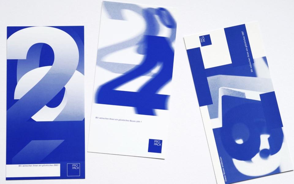 Propack Neujahrskarten Grafik Design Berlin