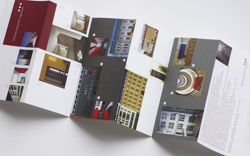 Ruethnick Architekten Faltblatt Grafik Design