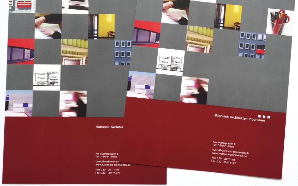 Ruethnick Architekten Broschuere Grafik Design