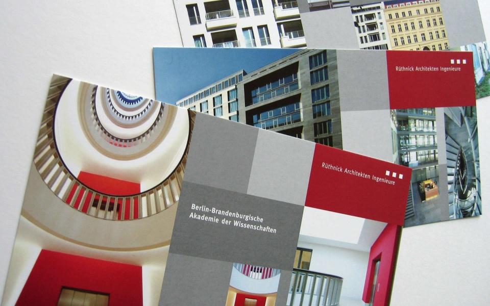 Ruethnick Architekten Postkarten Gestaltung Logoentwicklung