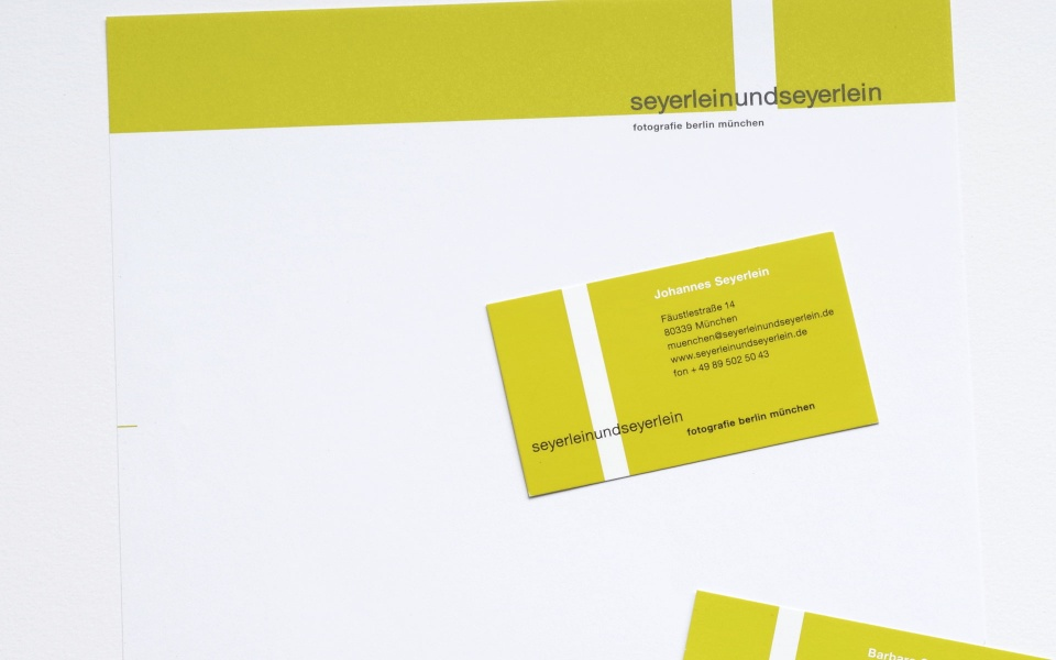 Seyerlein Fotografie Briefpapier Visitenkarten Grafik Design