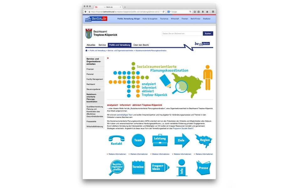 Sozialraumorientierte Planungskoordination Website Webdesign