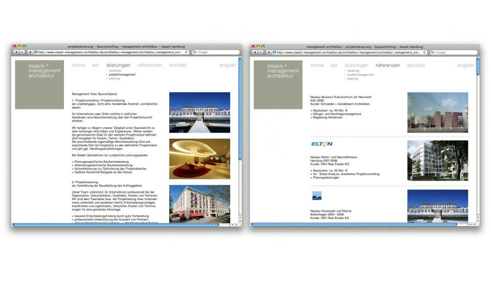 Staack Website Webpage Grafik Design Erscheinungsbild