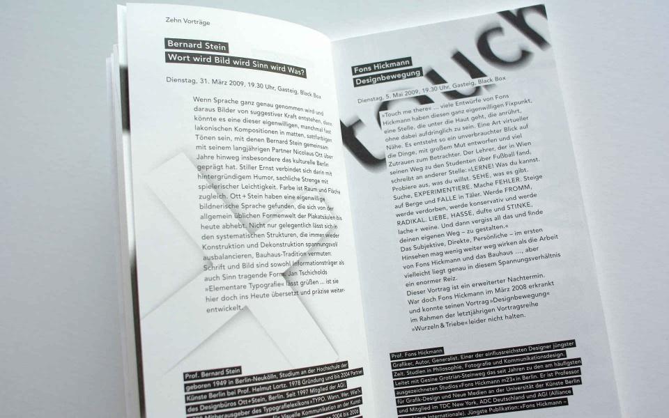 TGM Programm Buch Design Berlin