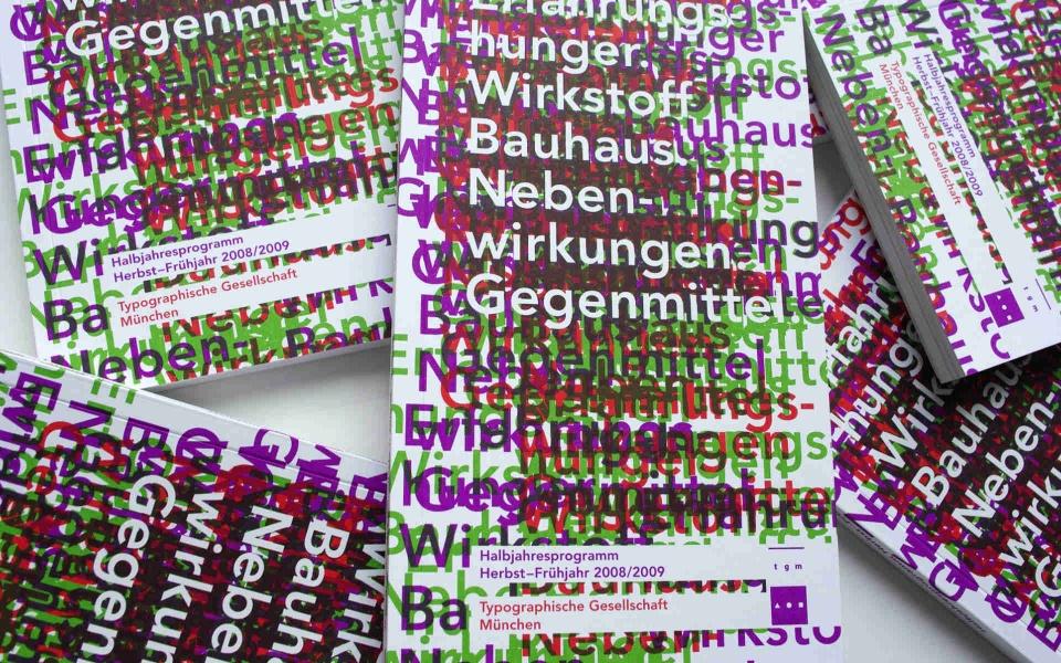 TGM Typografische Gesellschaft Muenchen Grafik Design