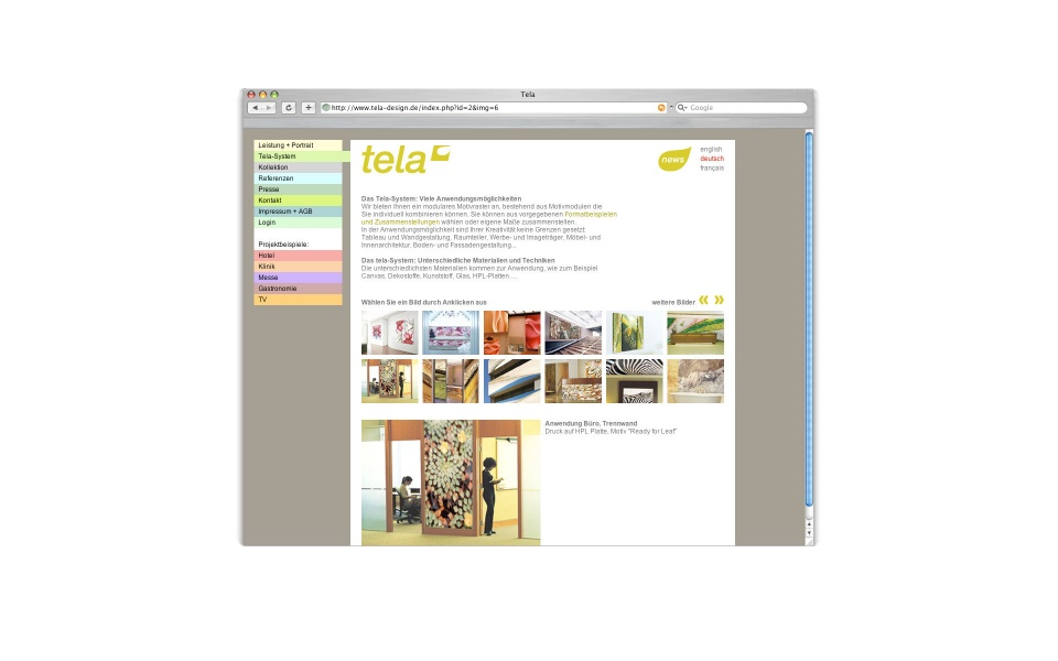 Tela Website Shop Webauftritt Berlin