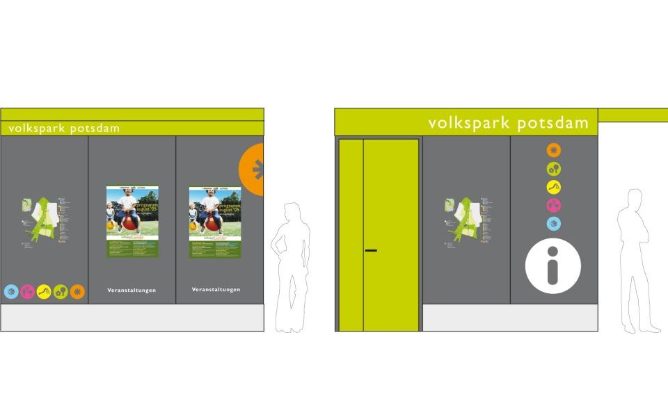 Volkspark Potsdam Informationskiosk Orientierungssystem