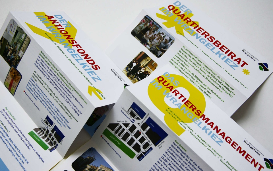 Wrangelkiez Quartiersbuero Broschuere Faltblatt