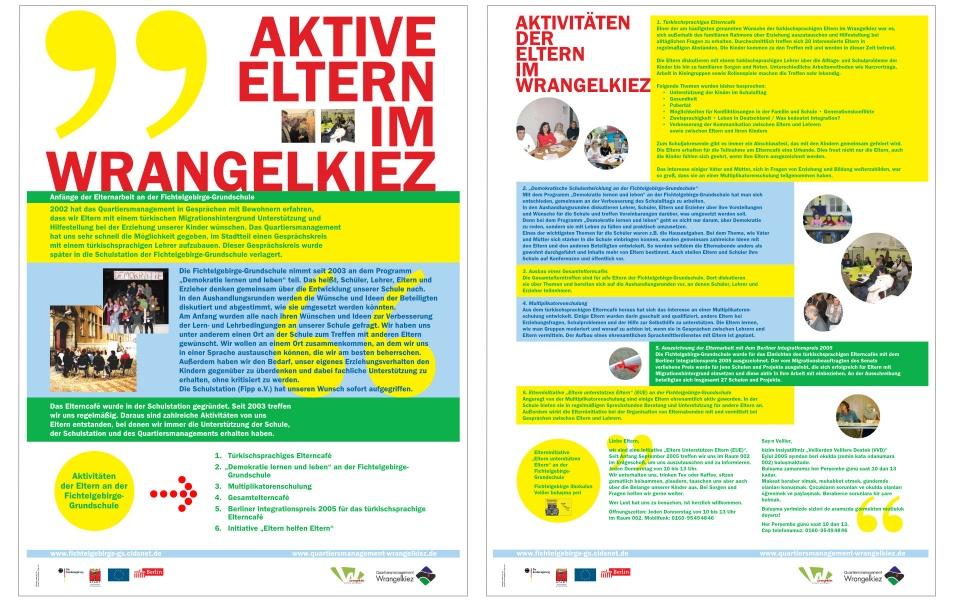 Wrangelkiez Quartiersbuero Informationsplakate Plakate