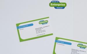 Enterprise Logogdesign Geschaeftsausstattung Visitenkarten