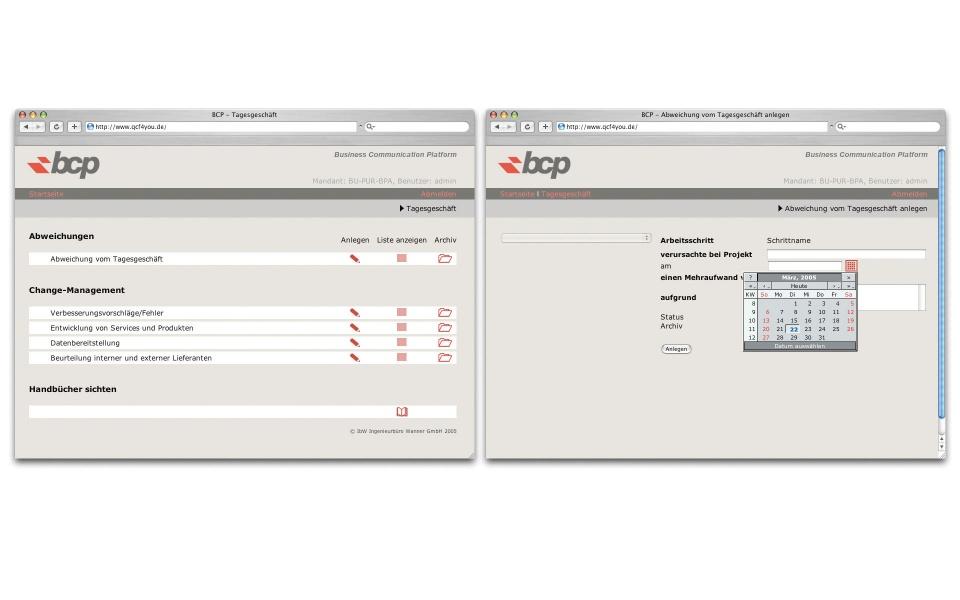 BCP Webauftritt Webdesign Berlin