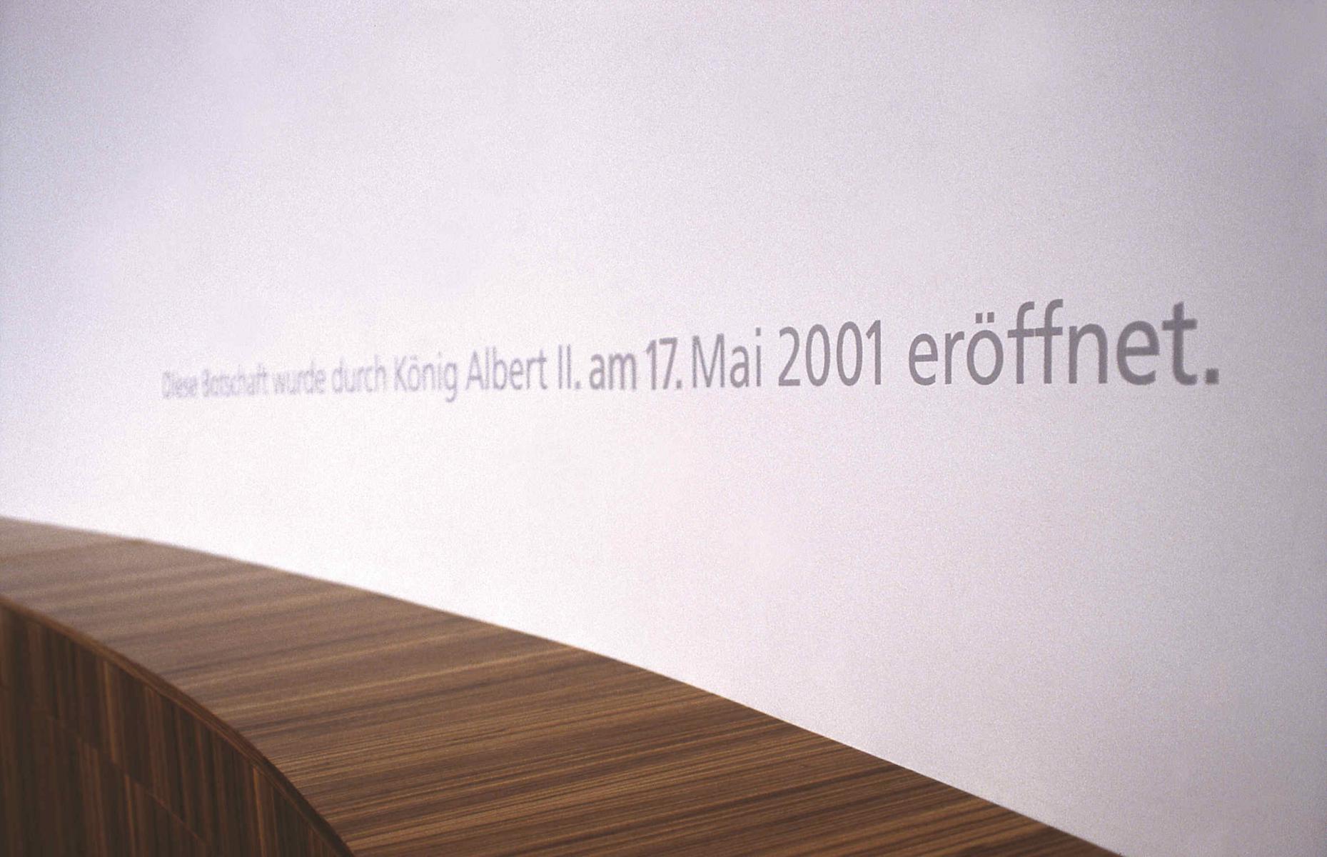 Belgische Botschaft Berlin Orientierungssystem Beschilderung Fassadengestaltung