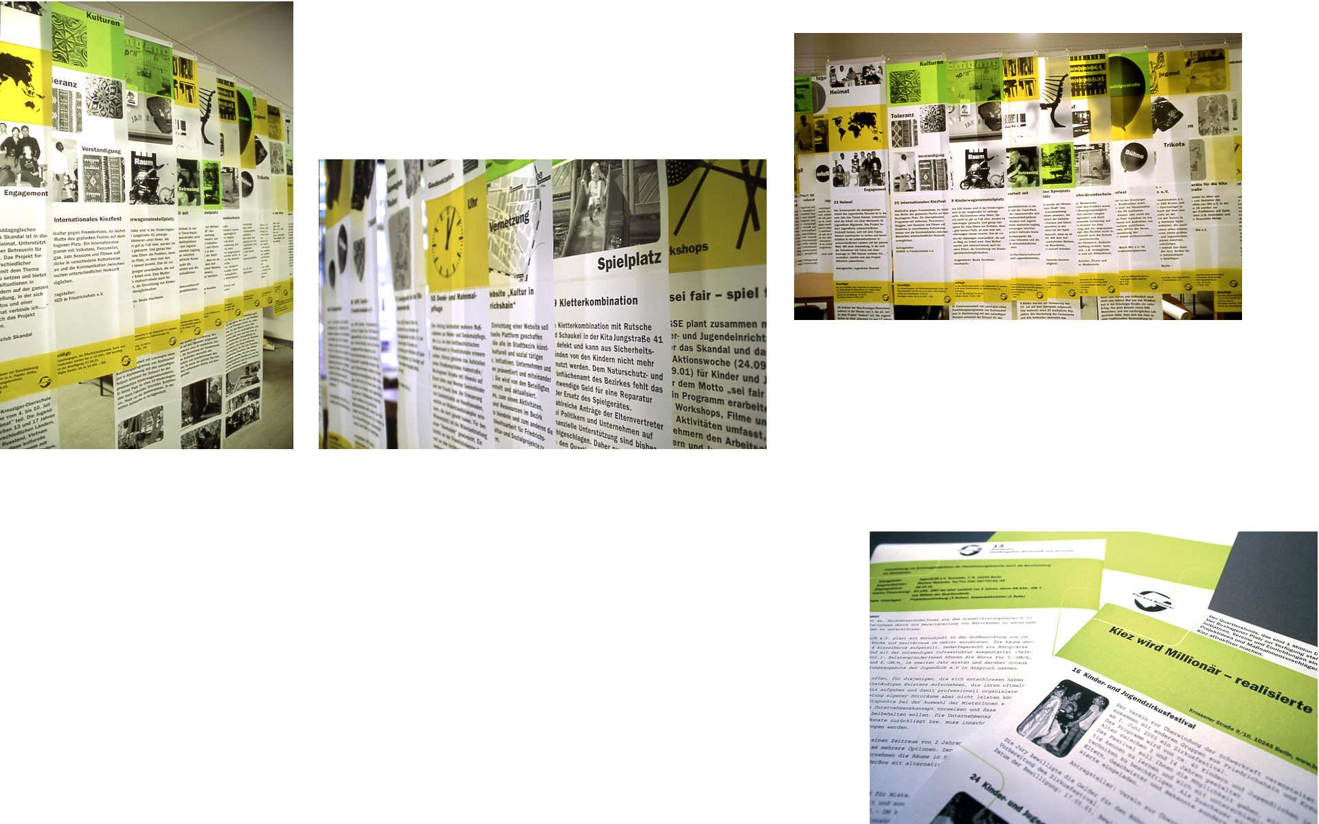 Boxhagenerplatz Quartiersmanagement Ausstellungsgestaltung Grafik Design