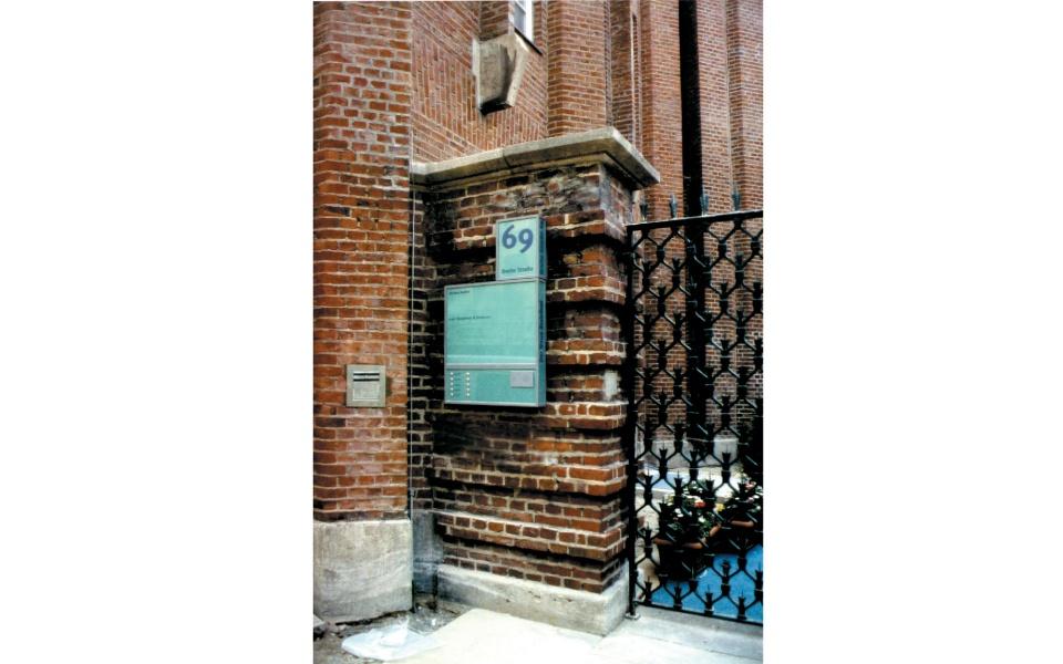 Der Neue Stahlhof Orientierung Beschilderung Leitsystem Denkmalschutz