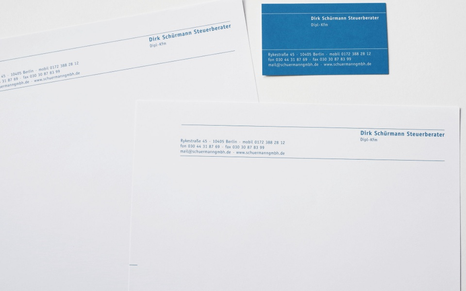 Dirk Schuermann Briefausstattung Briefpapier