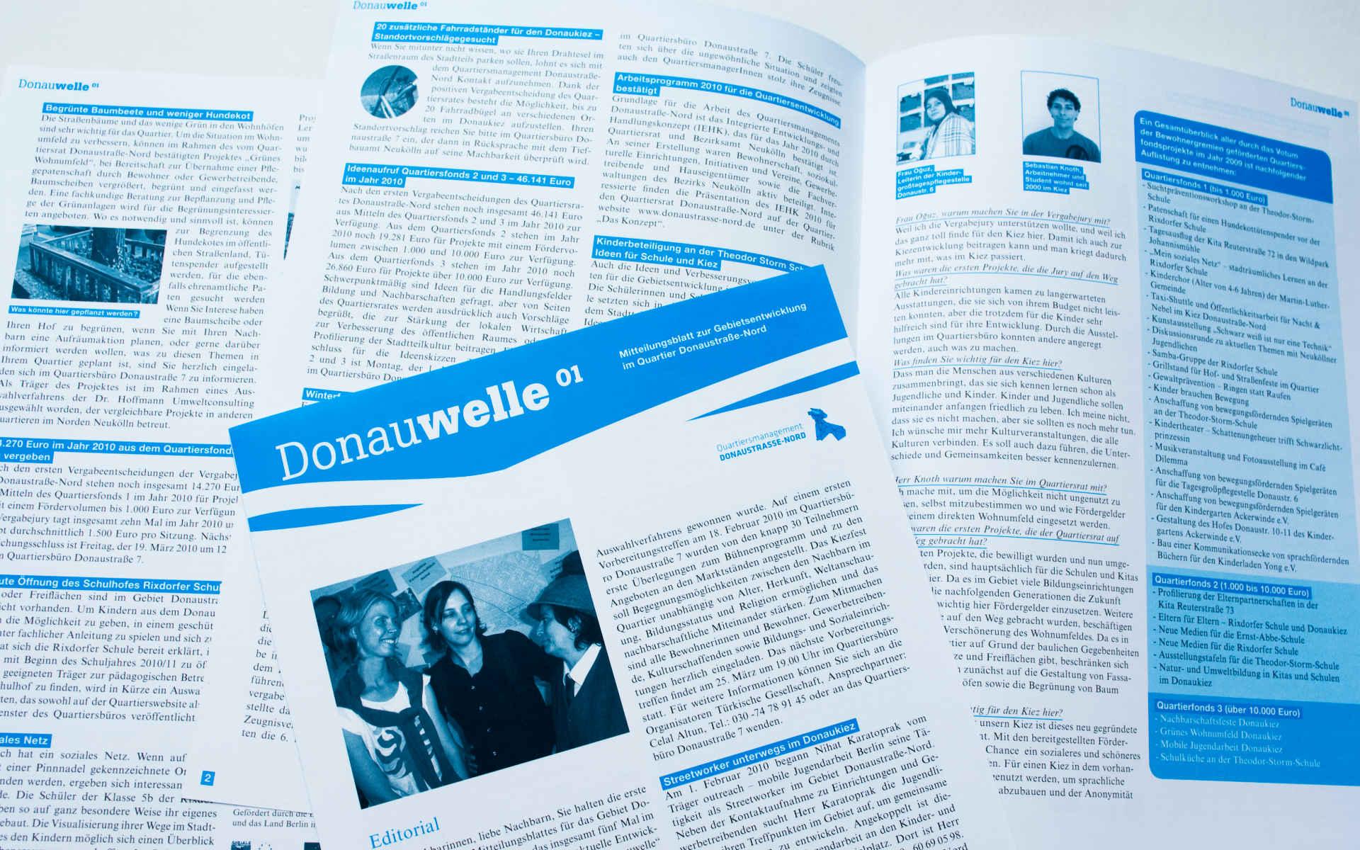 Donaustrasse Quartiersmanagement Neukoelln Zeitung Grafik Design