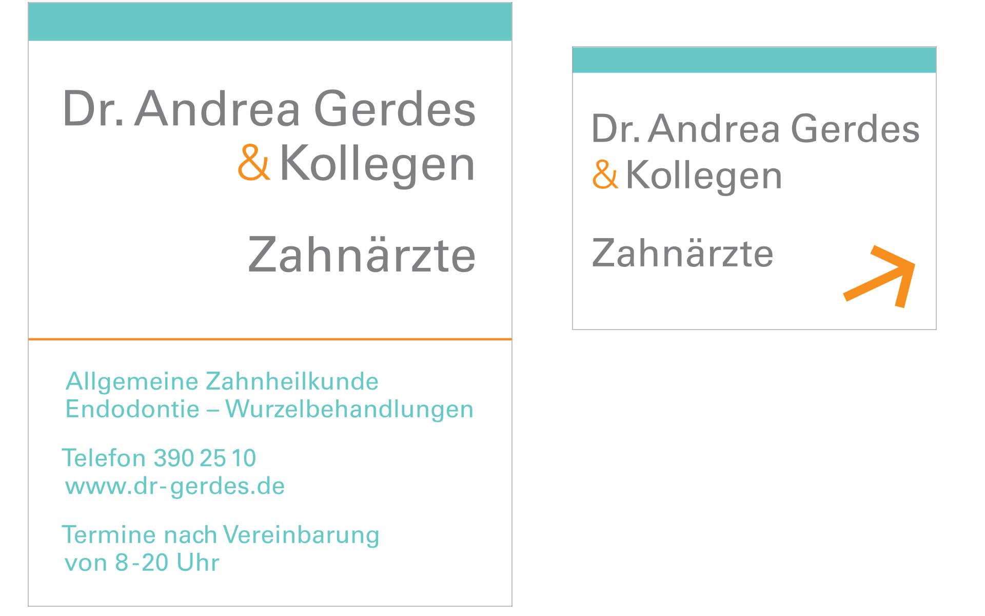 Dr Gerdes Zahnarztpraxis Beschilderung Design Berlin