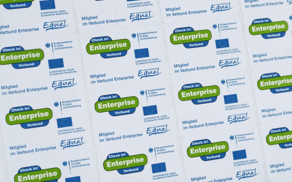 Enterprise Erscheinungsbild Aufkleber Logoentwicklung