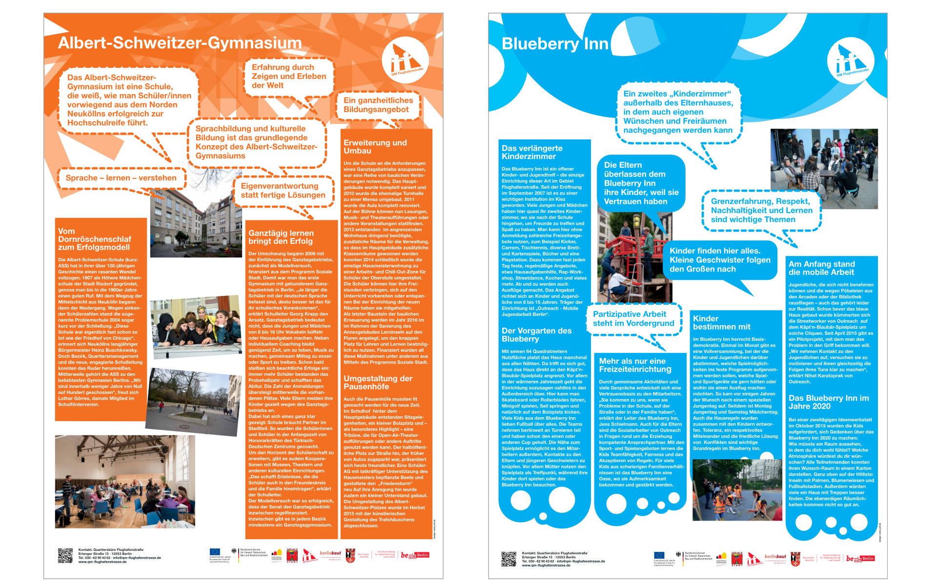 Flughafenstrasse Quartiersbuero Plakate Grafik Design Ausstellungsgestaltung Plakate
