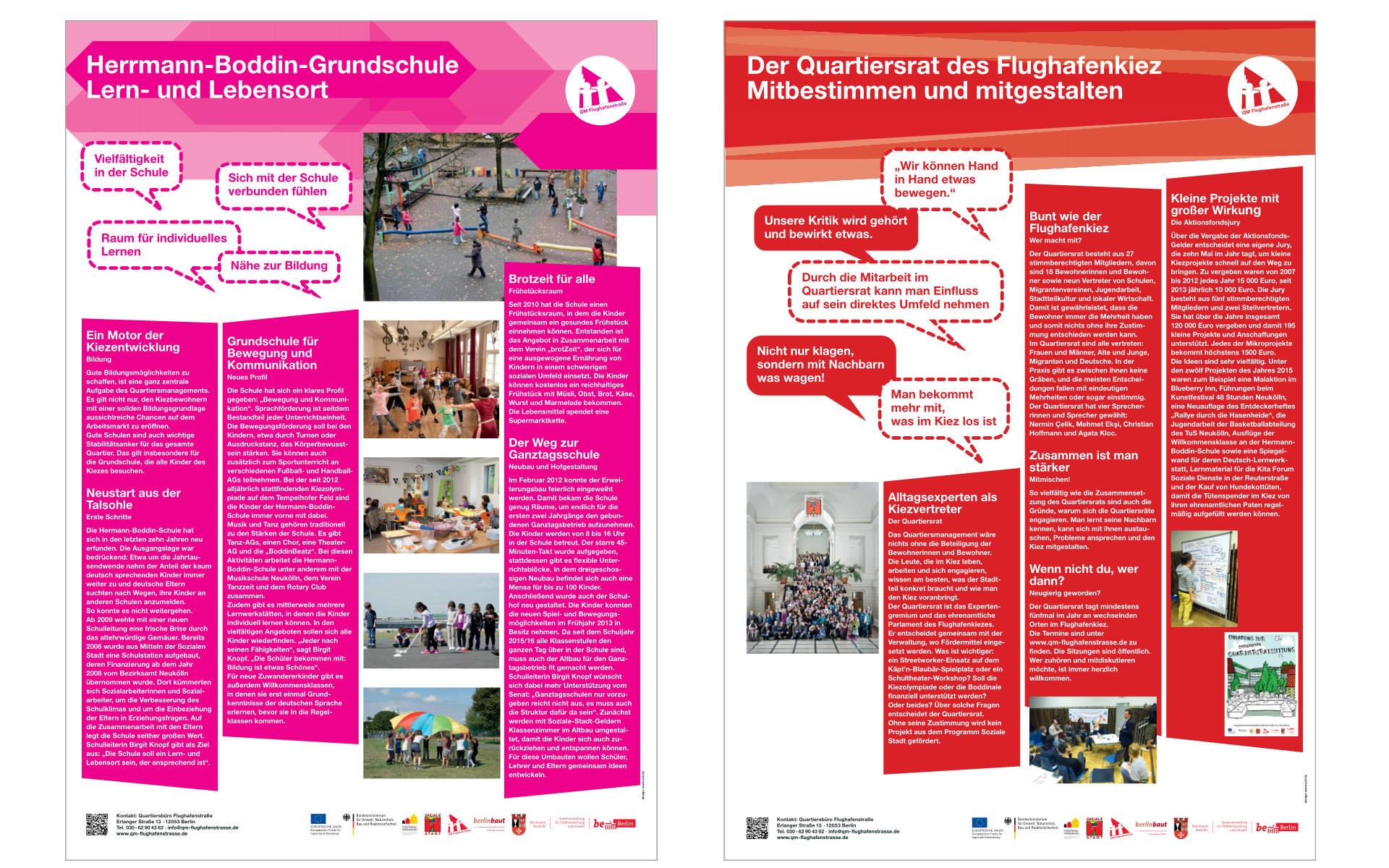 Flughafenstrasse Quartiersbuero Plakate Grafik Design Ausstellungsgestaltung