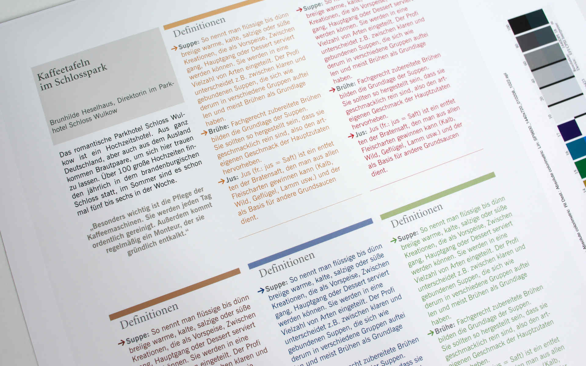 Gatronomie Relaunch Fachzeitschrift Styleguide Design