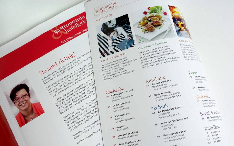 Gatronomie Relaunch Fachzeitschrift Grafik Design Layout