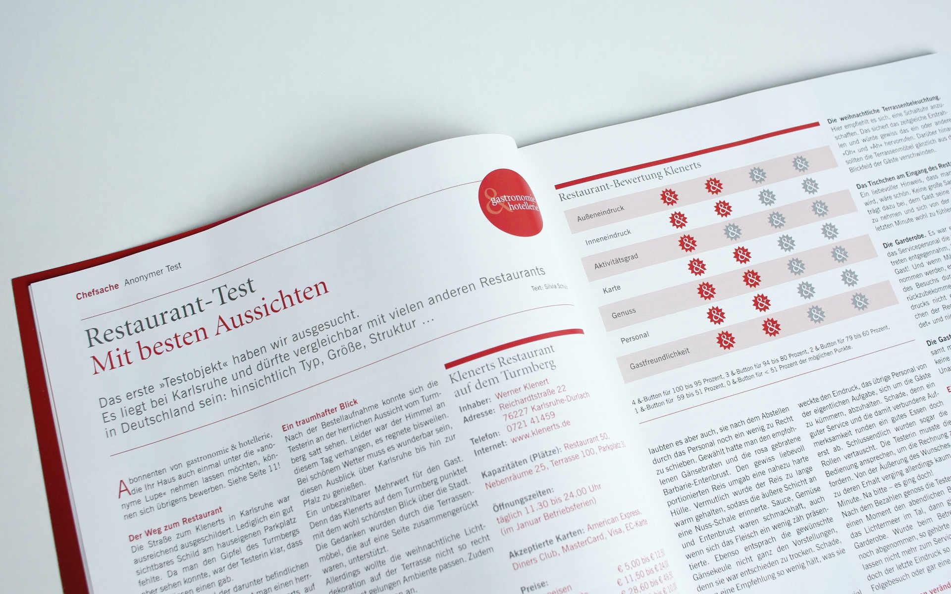 Gatronomie Relaunch Zeitschrift Icondesign
