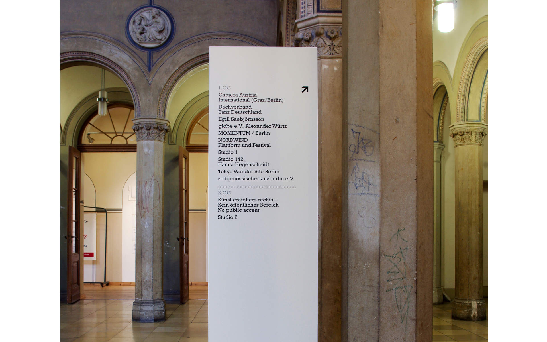 Kunstquartier Bethanien Informationssystem Stele